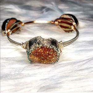 Jewelry - LAST! Authentic Druzy Stone Wire Wrapped Bangle